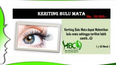"EYELASH –> TANAM BULU MATA, EYELASH EXTENTION, KRITING BULU MATA, RAPI ALIS,  HENA ALIS & BIBIR HBC ""Salon & Wedding""Salon Kecantikan – Khusus Wanita.Berdiri sejak tahun 2009 (nama lama HAI SALON)Buka setiap hari, jam […]"